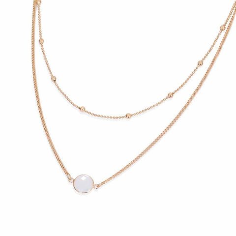 Felicia Opal Gemstone Layered Choker Necklace in Gold Opal - www.MyBodiArt.com