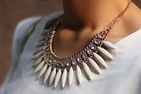 Meena Chunky Statement Necklace at MyBodiArt.com