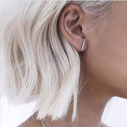 Womens T Bar Minimalistic Minimal Earrings - MyBodiArt.com
