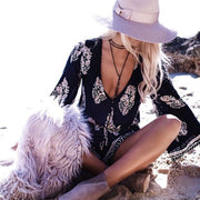 2017 Summer Beach Outfits - Black Romper - Meadow Medallion Coin Suede Wrap Choker Necklace at MyBodiArt.com