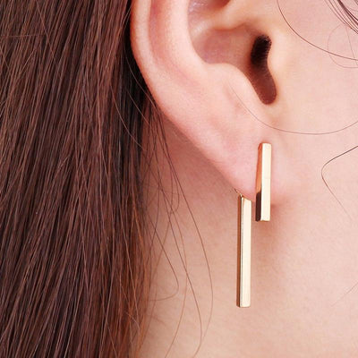 T Bar Ear Piercing Earrings Jewelry for the Minimalist at MyBodiArt.com