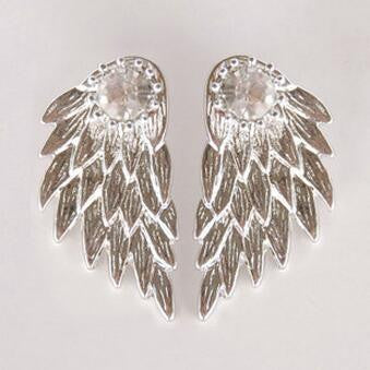 Silver Ear Jacket Womens Chandlier Earrings at MyBodiArt.com