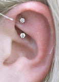 Simple Ear Piercing Ideas Rook Earring jewelry Curved Barbell - www.MyBodiArt.com