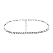 Roxy Crystal Rhinestone Choker Necklace