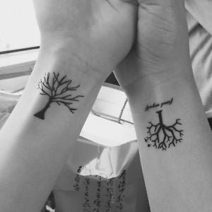Cute Women's Oak Tree Wrist Tattoo Ideas  - Small Simple Minimalistic Tiny Tats at MyBodiArt.com