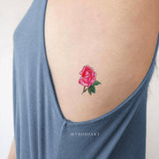 Cute Small Watercolor Pink Rose Rib Tattoo Ideas for Women -  pequeñas ideas de tatuaje de costilla rosa acuarela - www.MyBodiArt.com #tattoos