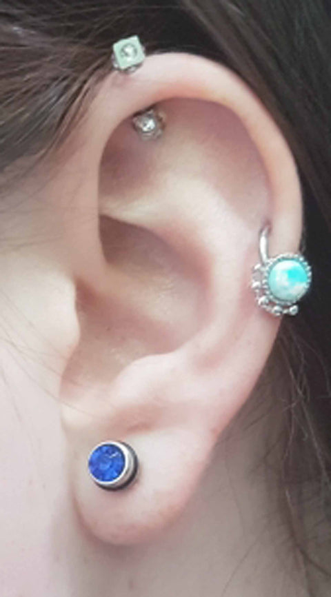 Cute Multiple Ear Piercing Ideas Cartilage - MyBodiArt.com