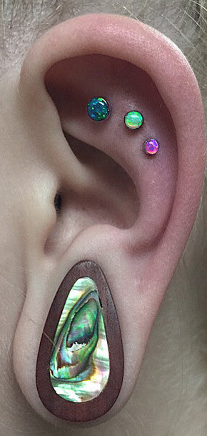 Emerald Opal Cartilage Piercing Jewelry at MyBodiArt