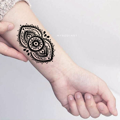 Mandala Tattoo Lotus Tattoo Aztec Tattoo Tribal Black And White