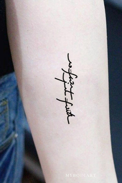 Script Quote Handwriting Forearm Tattoo Ideas for Women - www.MyBodiArt.com #tattoos
