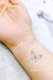 Trending Cute Small Watercolor Butterfly Wrist Tattoo Ideas for Females - www.MyBodiArt.com #tattoos