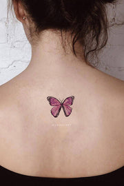 Cute Watercolor Butterfly Back Tattoo Ideas for Women - www.MyBodiArt.com #tattoos