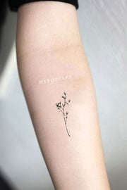 cute small minimalist flower forearm tattoo ideas for women - www.MyBodiArt.com #tattoos