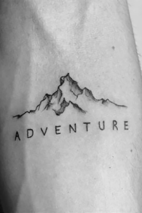Cute Nature Mountain Adventure Forearm Tattoo Ideas for Women - www.MyBodiArt.com #tattoos