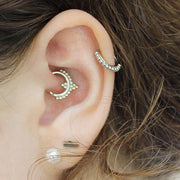 Boho Daith Ear Piercing Jewelry Ideas for Women -  lindas ideas para perforar orejas para mujeres - www.MyBodiArt.com
