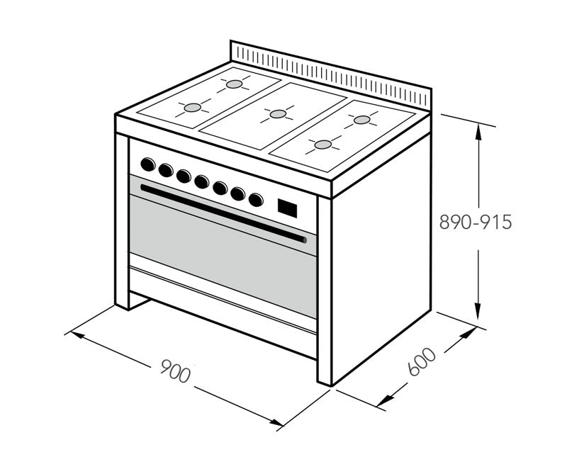 Scandium 90cm Upright-Cooker
