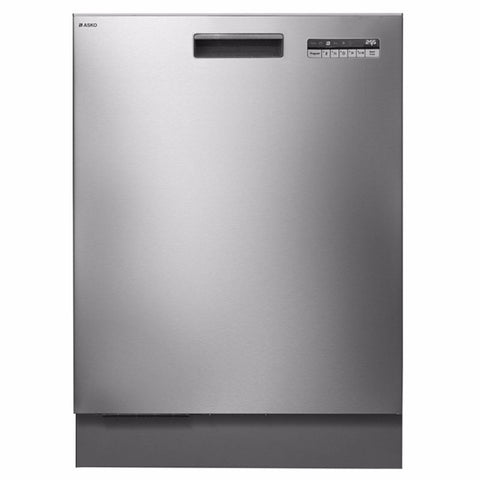 Asko 82cm 6 Program Stainless Steel Built-in Dishwasher-D-D5456SS
