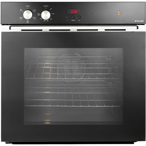 Glem 60cm Black Fan Assisted Electric Oven