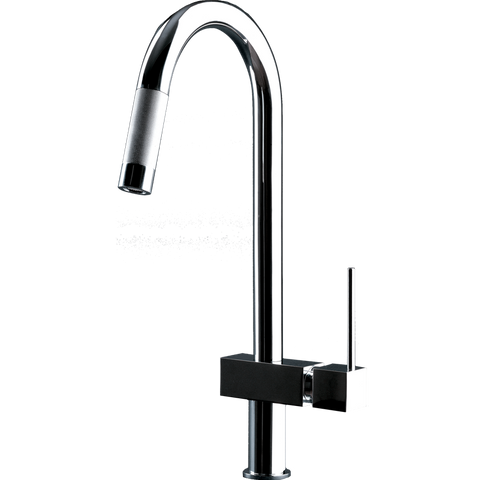 Gessi Quadro Hi-Tech Chrome Pull-out Spray Mixer-16774