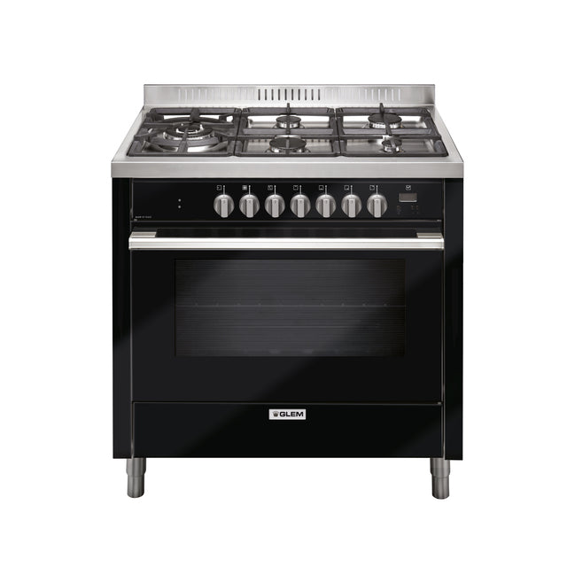 Glem 90cm Black Dual Fuel Cooker - IT965PROEN2