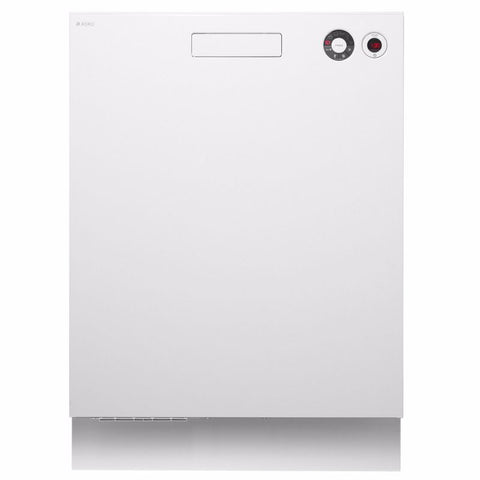 Asko 6 Program White Built-in Dishwasher-D-D5436WH   WELS Registration Number: D01641   WELS rating: 4.5 stars, 12.7L/wash. Energy rating: 3.5 stars, 275 kWh per year.