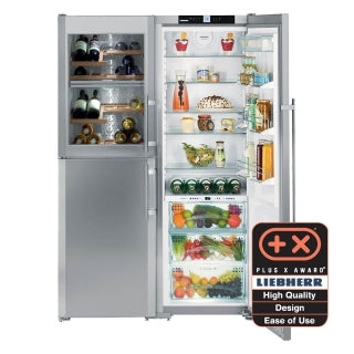Liebherr Freestanding Side By Side Fridge Freezer-SBSes 7165