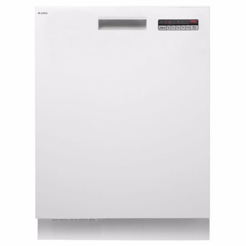 Asko 6 Program White Built-in Dishwasher