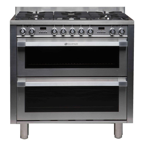 Allenzi S/S 90cm Wide Freestanding Double Oven-AS9DEEGS(S/S)