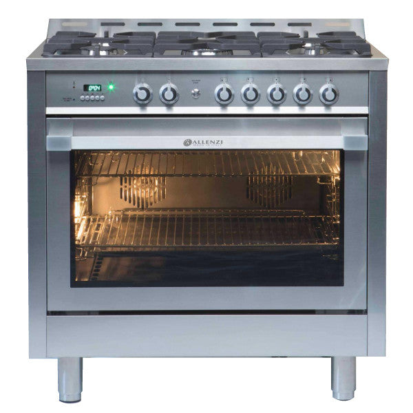 Allenzi S/S 90cm Wide Freestanding Oven-AS9SEGS(S/S)