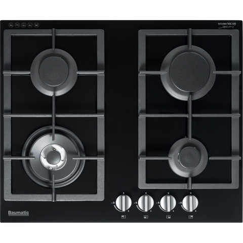 Baumatic 60cm Gas Glass Cooktop