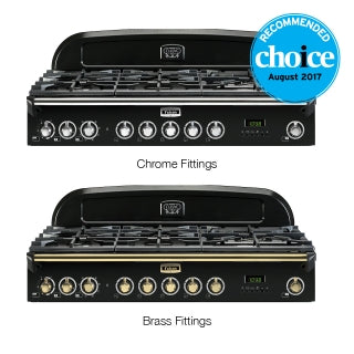 Falcon Classic Deluxe Black 110cm Dual Fuel Stove-S11-CDL110DFBL/CH or S11-CDL110DFBL/BR