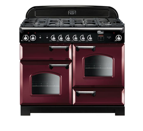 Falcon Classic Cranberry 110cm Dual Fuel Stove-S11-CLA110DFCY/CH
