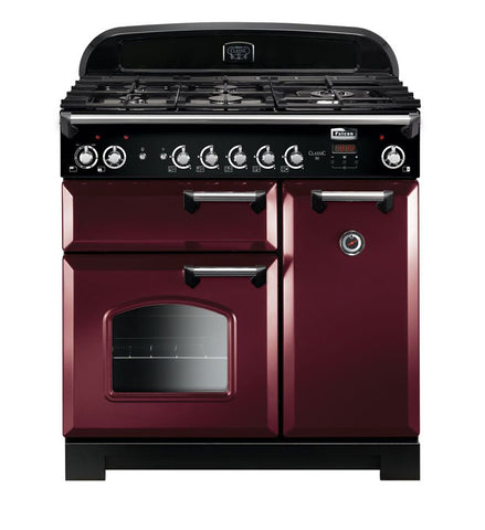 Falcon Classic Cranberry 90cm Dual Fuel Stove-S9-CLA90DFFCY/CH