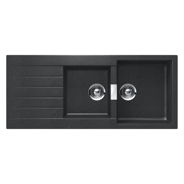 Abey Black Schock 1&1/3 Quarter Bowl Nanogranite Inset Sink-D200B