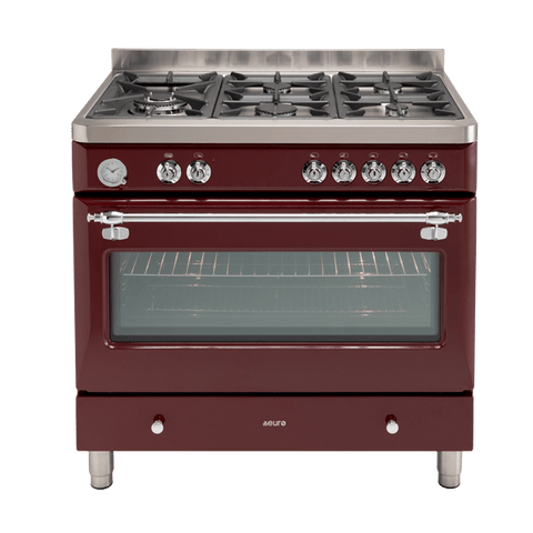 PECSH900BG – Ex Display 90cm Dual Fuel Royal Chiantishire – Burgundy