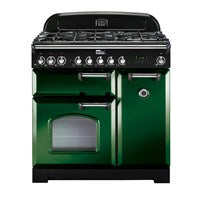 Falcon Classic Deluxe Green 90cm Dual Fuel Stove-S9-CDL90DFG/CH or S9-CDL90DFG/BR