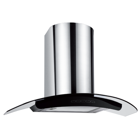 Newmatic 90cm Curved Glass Wallmount Rangehood-H76.9S