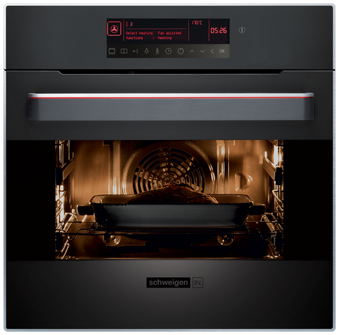 Ex Display Schweigen Pyrolytic Oven With Touch Sensitive Display 60cm-IN10PYB [IN]