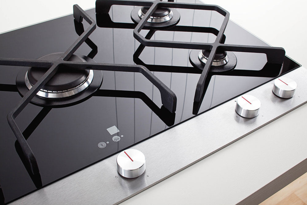 Schweigen Cooktop Gas Ceramic Black Glass 90cm [IN]
