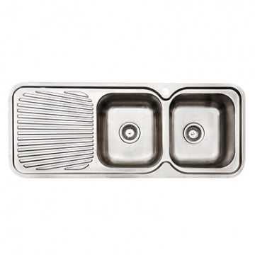 Abey 2 Bowl Sink With Drainer