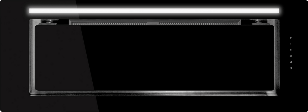 Schweigen IN. Black Glass 90cm Silent Undermount Rangehood - KLS-9GLASSBLKS
