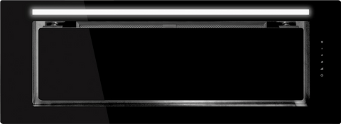 Schweigen IN. Silent Black Glass 90cm Undermount Rangehood - KLS-9GLASSBLKS