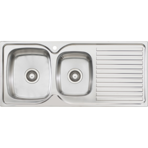 Oliveri Endeavour 1 & 3/4 Bowl Sink With Drainer