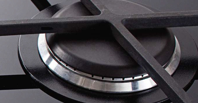 Schweigen Cooktop Gas Ceramic Black Glass 60cm [IN]