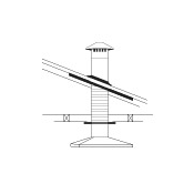 Abey 150mm Rangehood Flue Kit - Steel Roof
