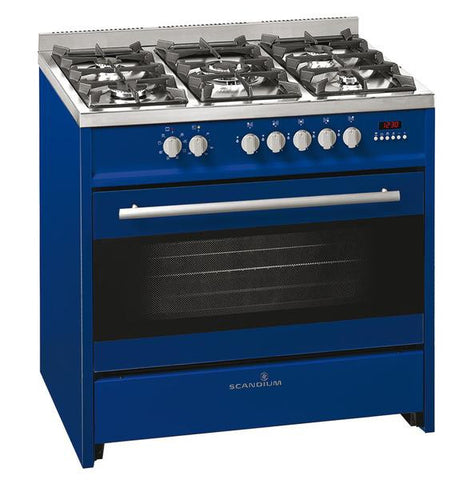 Scandium 90cm Dark Blue Upright Cooker-SCU900DB