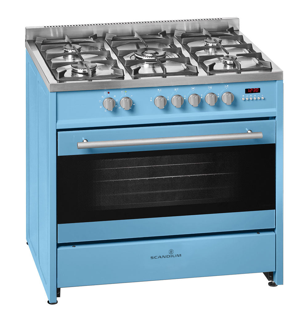 Scandium 90cm Power Blue Upright Cooker-SCU900PB