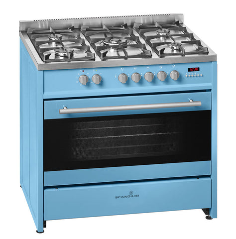 Ex-Display | Scandium 90cm Powder Blue Upright Cooker-SCU900PB