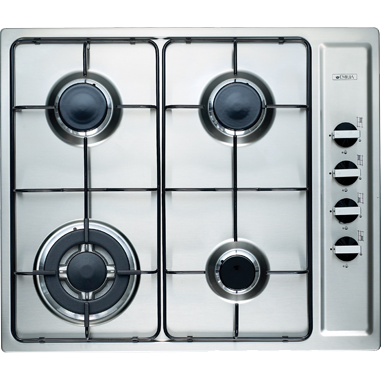 Emilia 60cm Stainless Steel Gas Cooktop with Wok Burner
