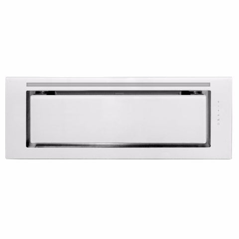 Schweigen IN. White Glass 90cm Silent Undermount Rangehood - KLS-9GLASS